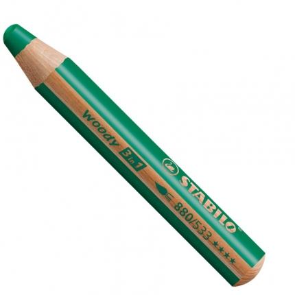 BB Buntstifte für Kleinkinder: Stabilo woody dunkelgrün - 533