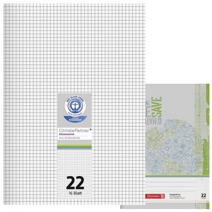 Schulhefte Blauer Engel: Lineatur 22, A4
