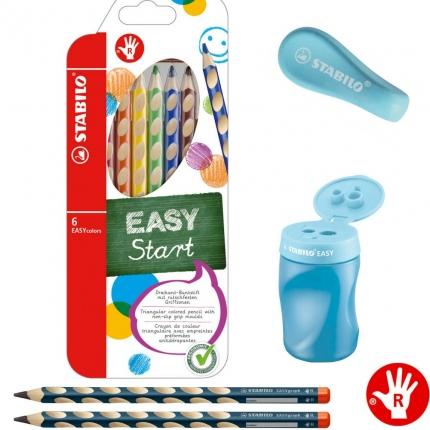Stabilo Schreibset 1. Klasse, blau: Schreiblernbleistifte, dicke Buntstifte