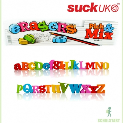 Buchstabenradierer, verschiedene Buchstaben A-Z,&,@
