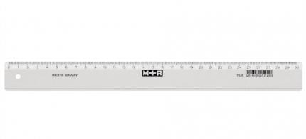Lineal 30 cm, Kunststoff transparent