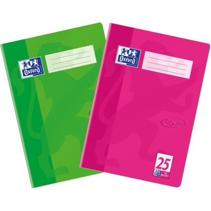 Oxford Touch Heft Lineatur 25, Pink oder Grasgrün
