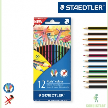 Staedtler Wopex Noris colour, 12 Buntstifte | <b>Stifte</b ...