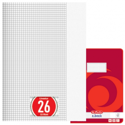 Doppelheft DIN A4, Lineatur 26, Herlitz
