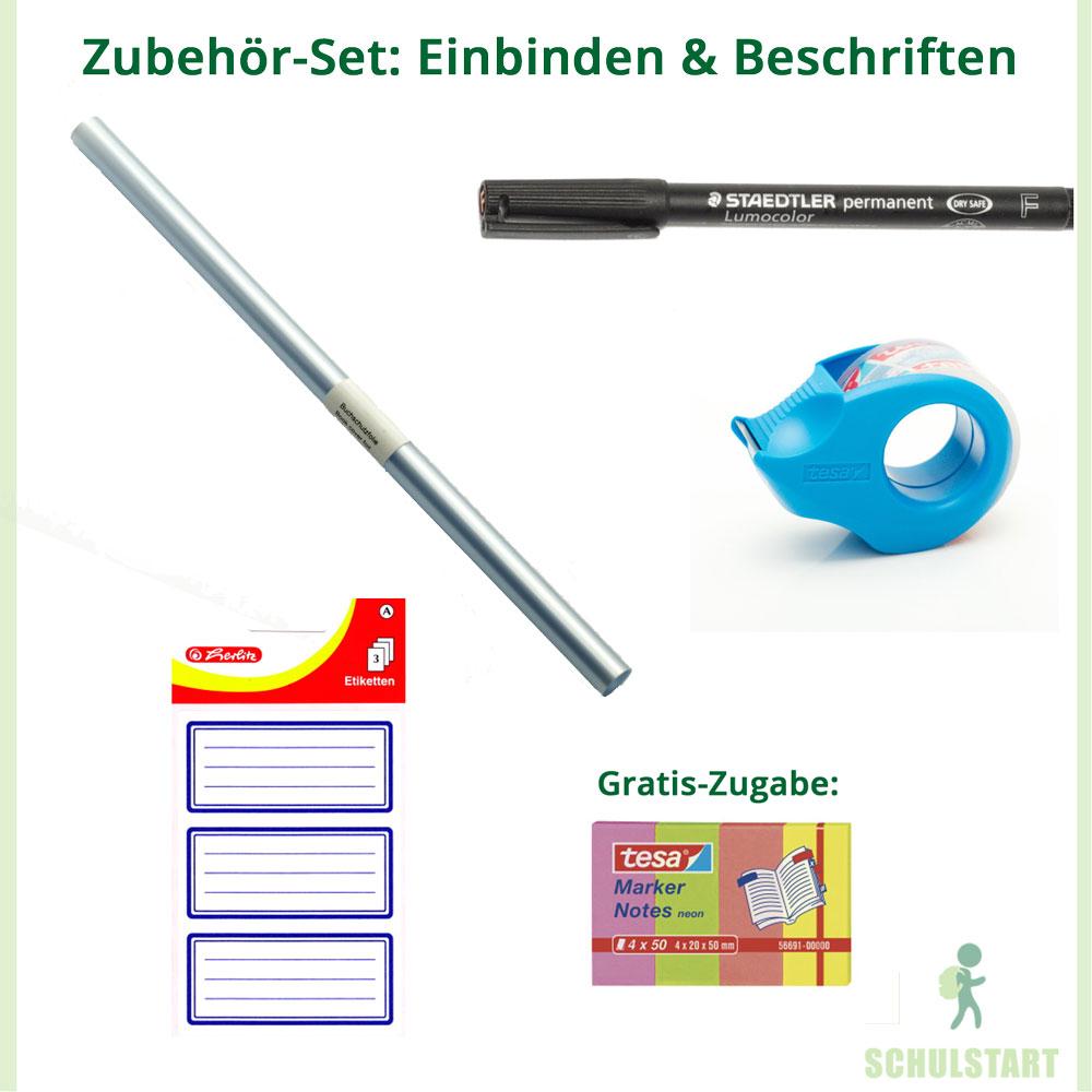 10 Heftschoner Din A5 transparent quer Heftumschlag Heftumschläge Set Schulheft