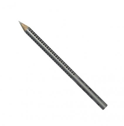 Buntstift silber, Faber-Castell Jumbo Grip