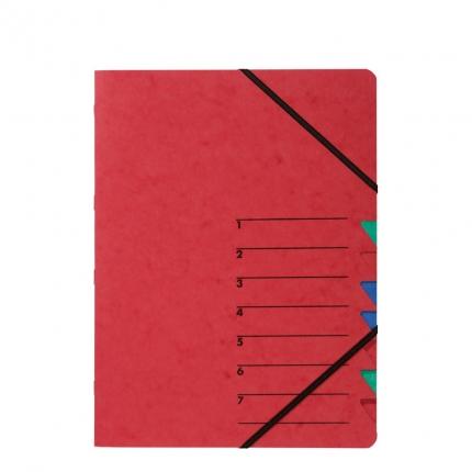 Ordnungsmappe EASY 7 Fächer, rot