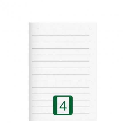 Kleines Schulheft, Lineatur 4, A5