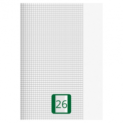 Großes Schulheft, Lineatur 26, A4
