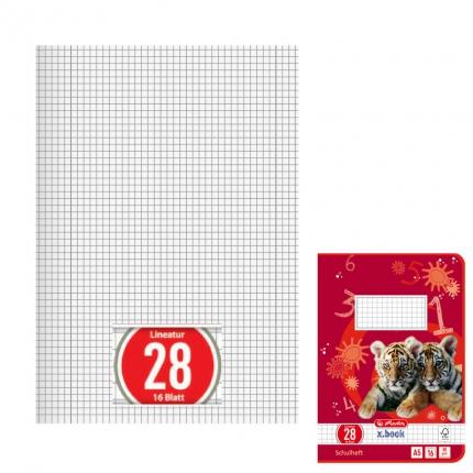 A5 Heft Lineatur 28, Herlitz