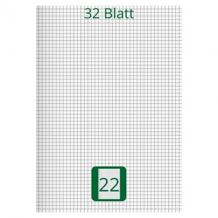 Großes Doppelheft DIN A4, Lineatur 22, 32 Blatt