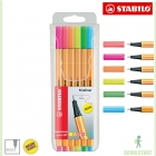 Neon Fineliner Stabilo point 88, 6 Farben