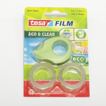 """tesa, Klebefilm """"Eco & Clear"""" mit Handabroller"""