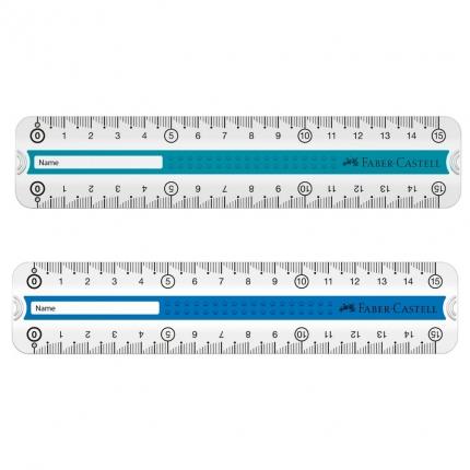 Grip Lineal für Rechts- und Linkshänder, 15 cm, farbig
