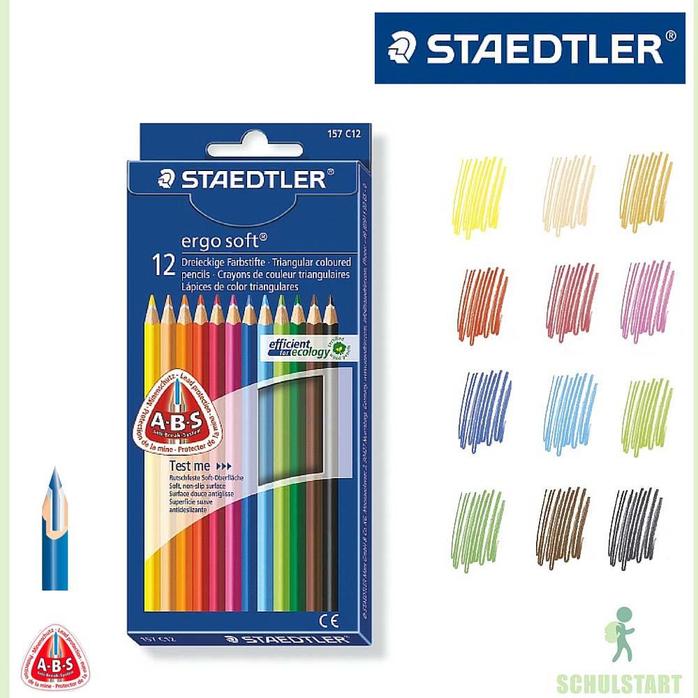 12 Staedtler ergosoft Buntstifte dreikant | <b>Stifte</b ...