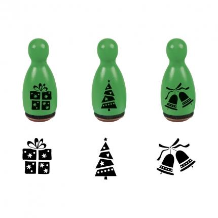 Ministempel Weihnachtsmotive, grün