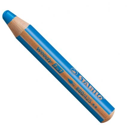 BB Buntstifte für Kleinkinder: Stabilo woody mittelblau - 425