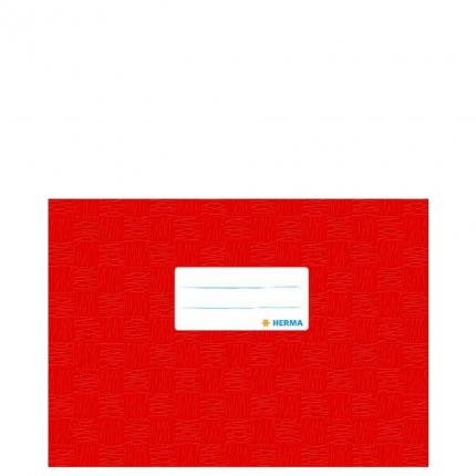 Heftschoner A5 Querformat, rot gedeckt, Herma