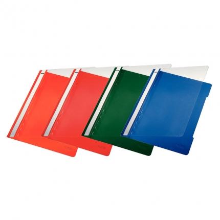 Leitz Schnellhefter PVC, 4 Farben: orange, rot, blau, grün