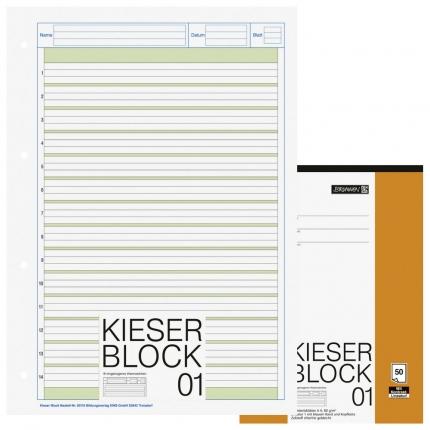 Kieserblock Lineatur 1 von Brunnen, liniert mit Kontrastlineatur, A4