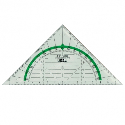 Geo Dreieck aus Biokunststoff, Green Line