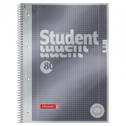 Collegeblock Student A4, Lineatur 28, Brunnen