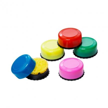 Schwammdose, farbig sortiert