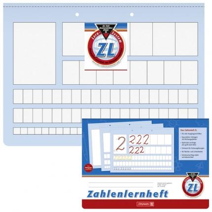Brunnen Zahlenlernheft ZL, A4 Querformat