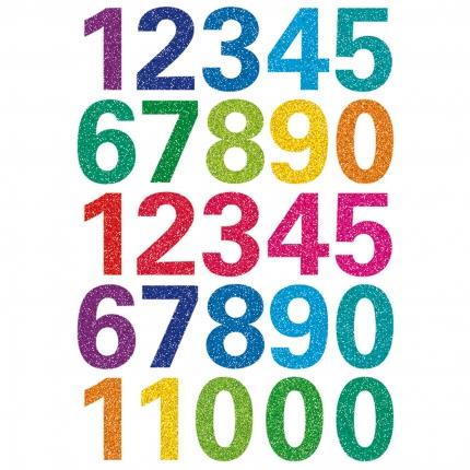 Zahlen Aufkleber Glitzer