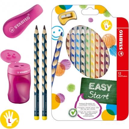 XL-Schreibset 1. Klasse für Linkshänder, rot: Dicke Bleistifte, Buntstifte etc.