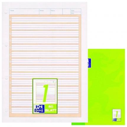 Arbeitsblock Lineatur 1, Oxford, liniert mit Kontrastlineatur, A4