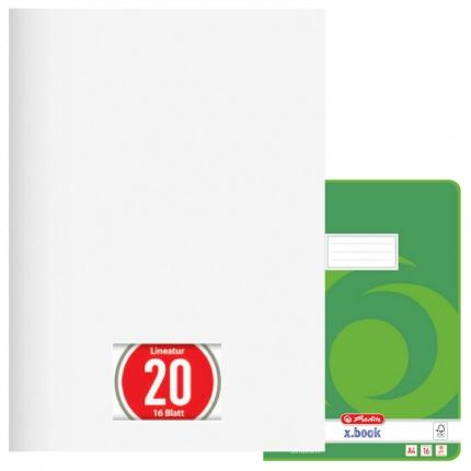 Blanko Heft A4, Lineatur 20, Herlitz