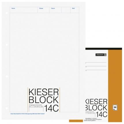 Blanko Kieserblock 14C von Brunnen, Lineatur 20, A4