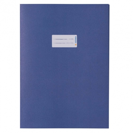 Heftschoner aus Recyclingpapier, A4 blau