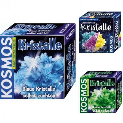 Kristalle züchten, Kosmos, verschiedene Farben