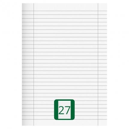 Großes Schulheft, Lineatur 27, A4