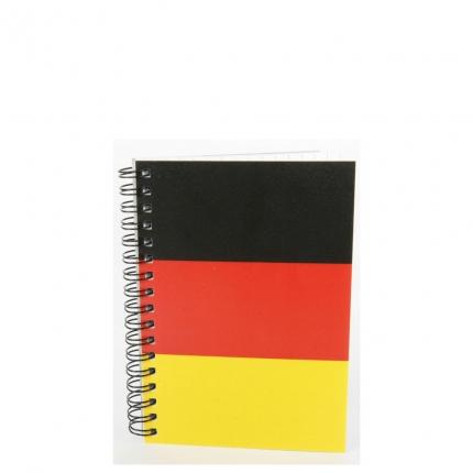Notizbuch A6 kariert, Seitenspirale, Deutschland-Motiv
