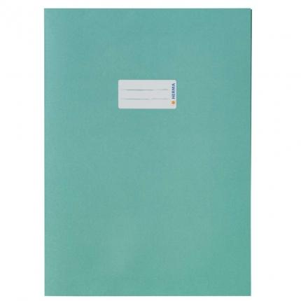 Heftschoner aus Recyclingpapier, A4 türkis