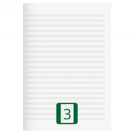 Großes Schulheft, Lineatur 3, A4