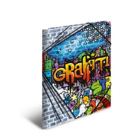 Kunststoffmappe A3, PP, Graffiti