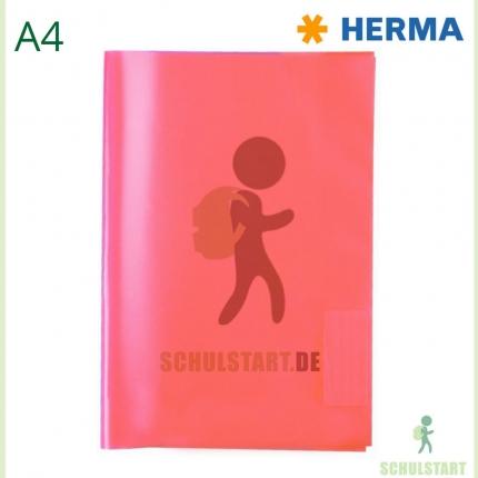 Transparenter Heftumschlag, A4 rot, Herma