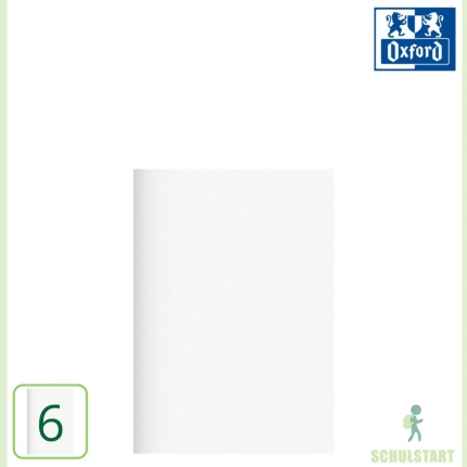 Oxford blanko Heft A5, Lineatur 6