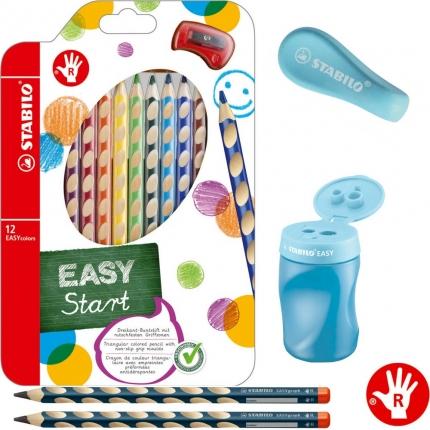 Stabilo Schreibset 1. Klasse XL , blau: Schreiblernbleistifte, dicke Buntstifte