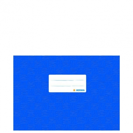 Heftschoner A5 Querformat, blau gedeckt, Herma