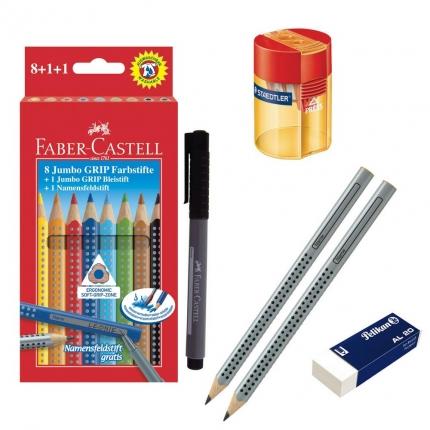 1. Klasse-Schreibset: Schreiblernstifte, dicke Buntstifte und mehr