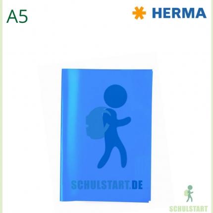 Transparenter Heftumschlag, A5 dunkelblau, Herma