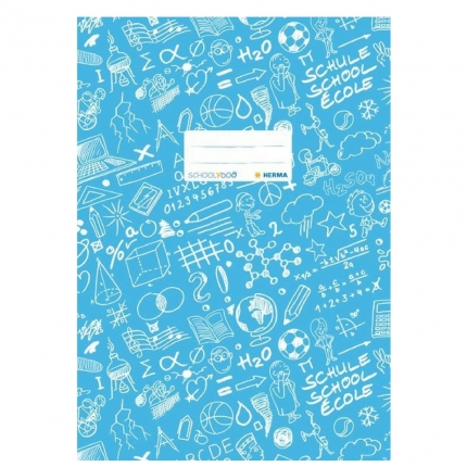 Hefteinband A4, hellblau gemustert, Herma Schoolydoo