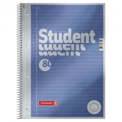 Collegeblock Student A4, Lineatur 21 mit Innenrand, Brunnen
