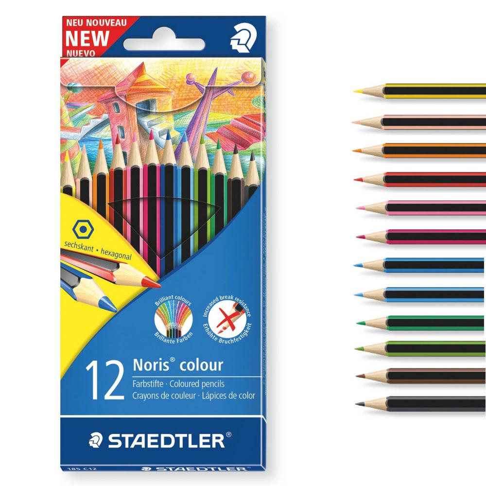 Staedtler Wopex Buntstifte, 12 Farben, Noris colour - schulstart.de