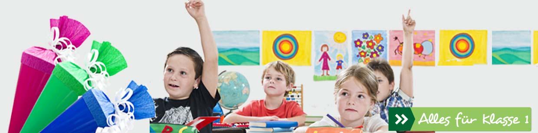 Hier finden Sie den kompletten Schulbedarf für die erste Klasse!
